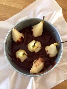 Chocolade perentaart 1