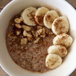 Bananenbrood overnight oats