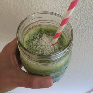 Groene kokos smoothie