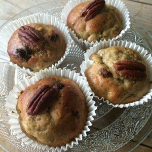 Herfst muffins met courgette, appel en rozijnen