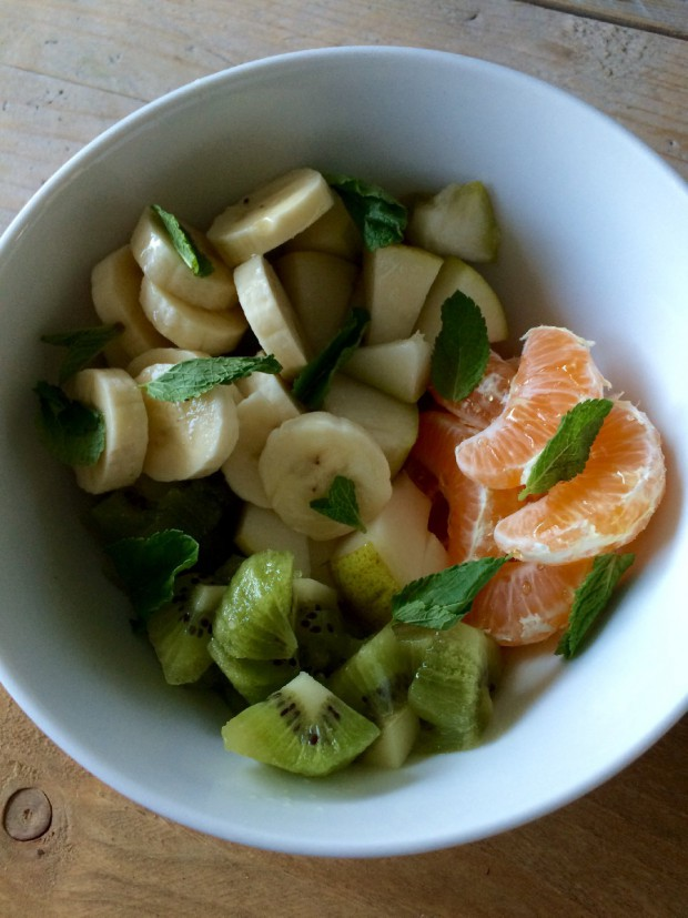 Healthy herfst fruitsalade