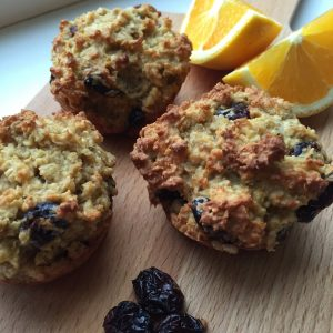 Cranberry sinaasappel muffins