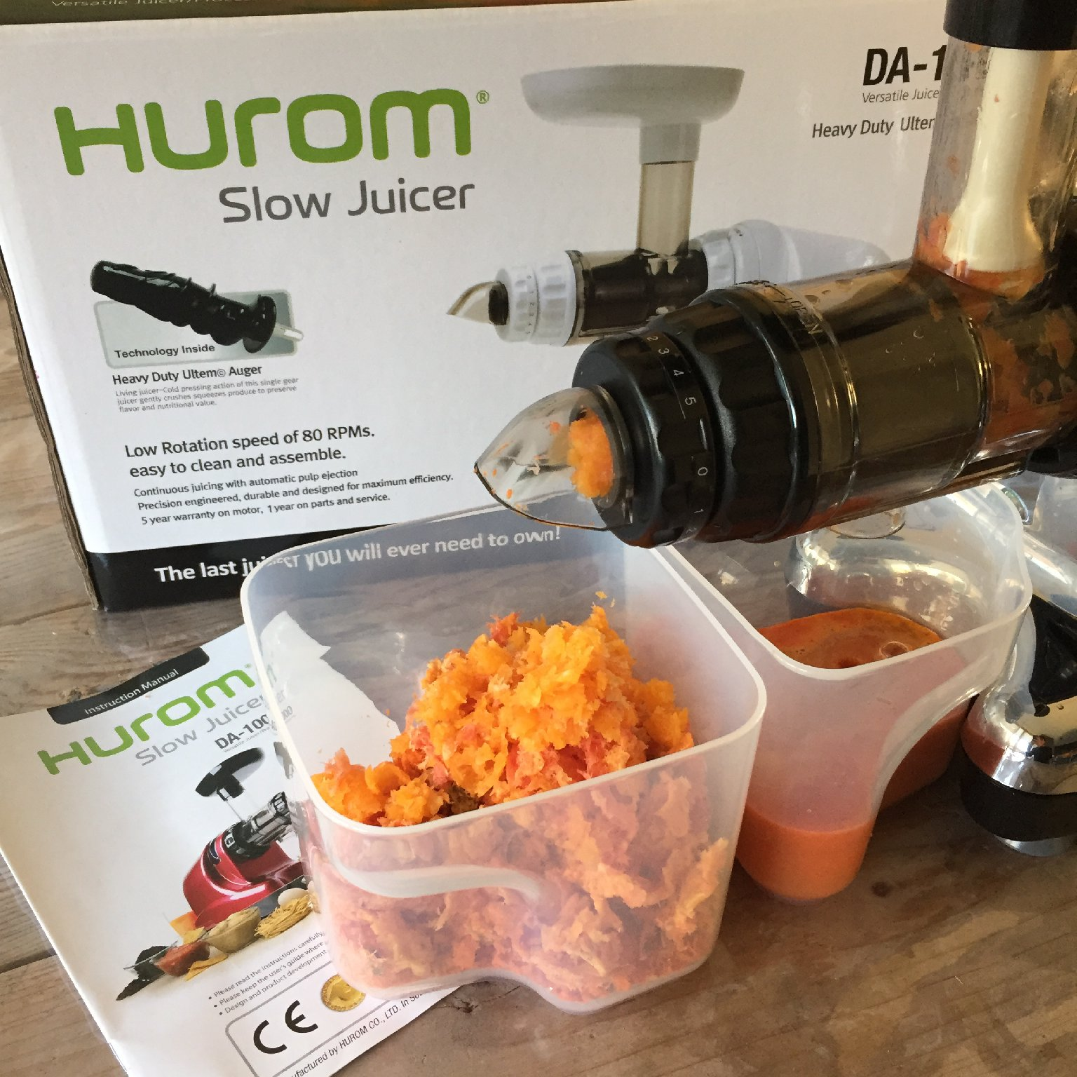 Hurom Slow Juicer Test : Foodilove test Hurom Slowjuicer - FOOD I LOvE