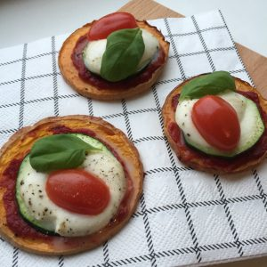 Healthy pompoen pizza