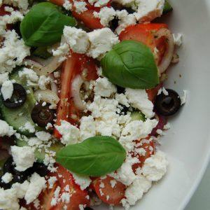 Healthy griekse salade
