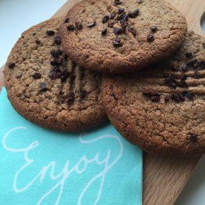Pindakaas choco koekjes