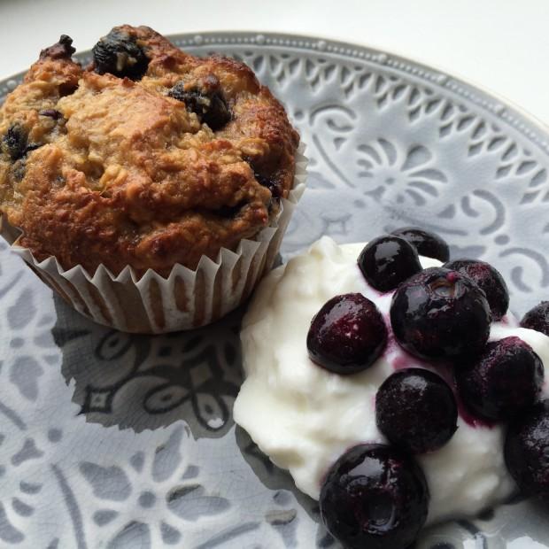 Blueberry bananenbrood muffins
