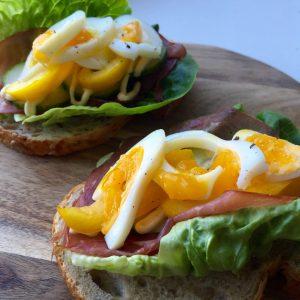 Healthy sandwich met rookvlees