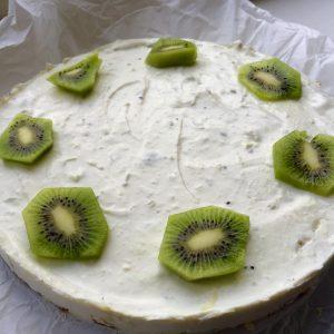 Lente kwarktaart met kiwi