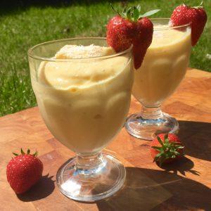 Healthy frozen yoghurt ijs