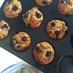 Blueberry muffins met sinaasappel