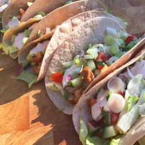 Healthy taco's met kip