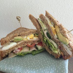 Gezonde club sandwich