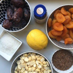 Ingredienten homemade energie reep