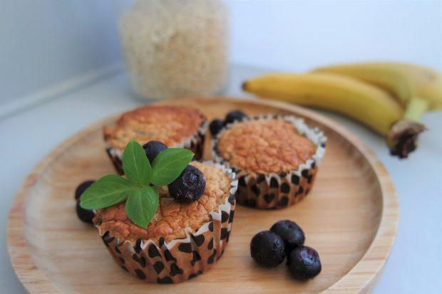 Gezonde bananenmuffins