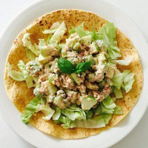 Wrap met skinny tonijnsalade