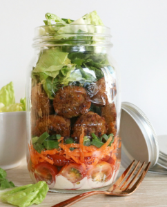 Vega falafel salade