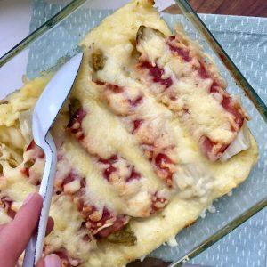 Ovenschotel witlof, ham en kaas